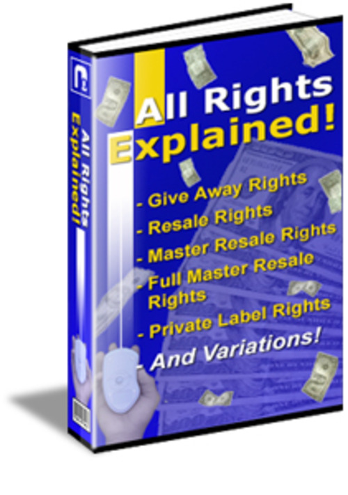 Product picture All Rights Explained (PLR)